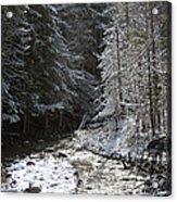 Snowy Oregon Stream Acrylic Print