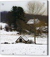 Snowy Pennsylvania Farm Acrylic Print