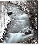 Snowy River At Mt. Hood Acrylic Print