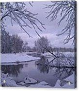Snowy River Bend Acrylic Print