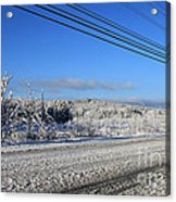 Snowy Roads Acrylic Print by Michael Mooney