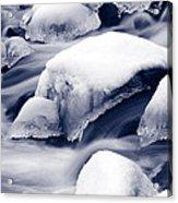 Snowy Rocks Acrylic Print