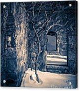 Snowy Ruins At Night Acrylic Print