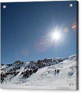 Snowy Ski Resort Acrylic Print