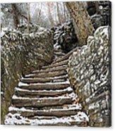 Snowy Steps Acrylic Print