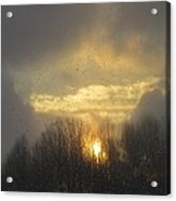 Snowy Sunset Acrylic Print by Diane Mitchell