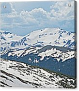 Snowy Terrain Near Top Of Trail Ridge Road In Rocky Mountain Np-co   Acrylic Print
