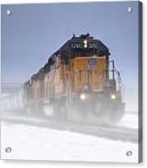 Snowy Train Acrylic Print