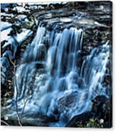 Snowy Waterfall Acrylic Print by Jahred Allen