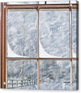 Snowy Window Acrylic Print