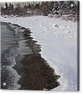 Snowy Winter Beach Patterns - Lake Ontario Toronto Canada Acrylic Print
