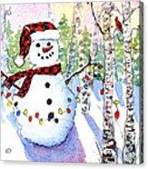 Snowy Wishes Acrylic Print
