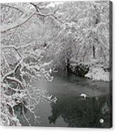 Snowy Wissahickon Creek Acrylic Print by Bill Cannon