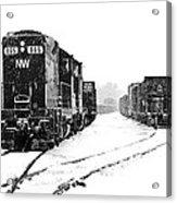 Snowy Yard Acrylic Print