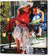Snuggled Acrylic Print by Maureen Dean