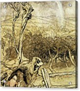 So Nobody Can Quite Explain Exactly Where The Rainbows End Acrylic Print by Arthur Rackham