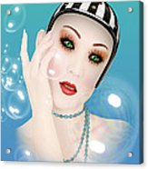 Soap Bubble Woman  Acrylic Print