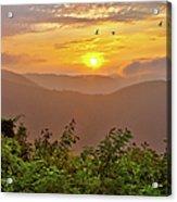 Soaring At Sunrise - Blue Ridge Parkway I Acrylic Print