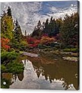 Soaring Autumn Colors In The Japanese Garden Acrylic Print