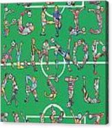Soccer Alphabet Acrylic Print