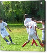 Soccer Ball In Play Acrylic Print