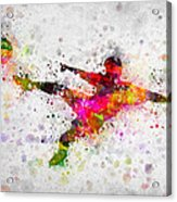 Soccer Player - Flying Kick Acrylic Print
