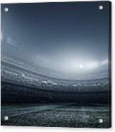 Soccer Player With Ball In Stadium Acrylic Print