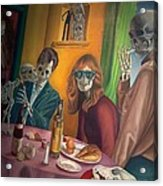 Social Xrays  Acrylic Print by Maureen J Haldeman