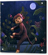 Sock Monkey In The Wild Acrylic Print