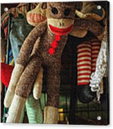 Sock Monkey Acrylic Print