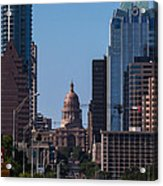 So Co View Of The Texas Capitol Acrylic Print