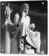 Socrates And Apollon Acrylic Print