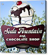 Soda Fountain Acrylic Print