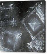 Sodium Hydroxide Crystals Acrylic Print