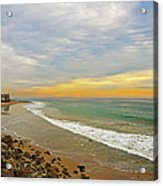 Soft Colors On The Coast Acrylic Print by Lynn Bauer