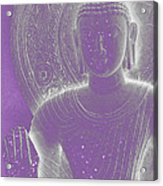 Soft Glow Purple Buddha Acrylic Print by Sally Rockefeller