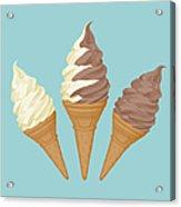 Soft Ice Cream Cone Acrylic Print