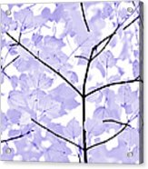 Soft Lavender Leaves Melody Acrylic Print