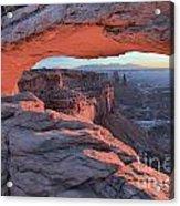 Soft Light On The Rocks Acrylic Print