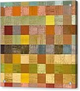 Soft Palette Rustic Wood Series Collage Lll Acrylic Print