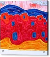 Soft Pueblo Original Painting Acrylic Print