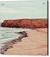 Soft Rain On The Beach Acrylic Print by Edward Fielding