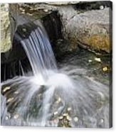 Soft Running Water Acrylic Print