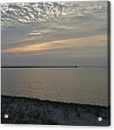 Soft Silver Sunset Acrylic Print