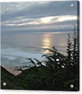Soft Silvery Pacific Sunset Acrylic Print