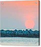 Soft Sunrise At Jetty Park Acrylic Print