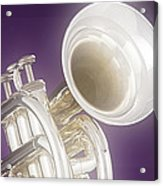 Soft Trumpet On Purple Acrylic Print