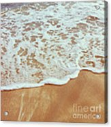 Soft Wave Of The Sea On The Sandy Beach Acrylic Print