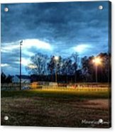 Softball Night At Matthews Elementary School Acrylic Print