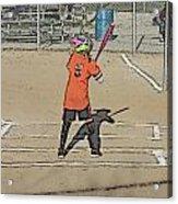 Softball Star Acrylic Print